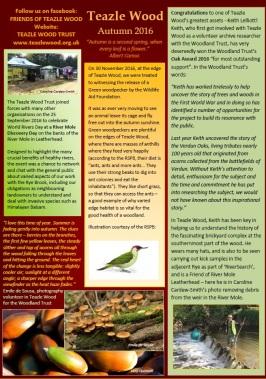 Newsletter Autumn 2016
