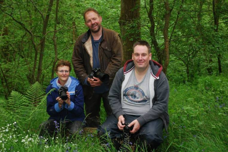 three photography learners